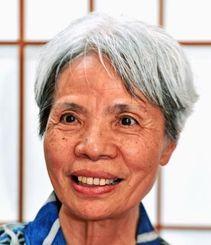 和服仕立てで、現代の名工に選ばれた熊谷フサ子さん