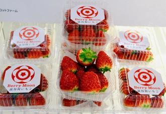 暑さに強い品種を使って生産された読谷村産のイチゴ「Berry Moon」