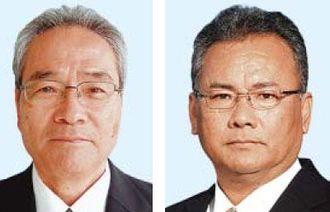 (左から)宮平昌治氏、座間味秀勝氏