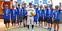 野球日本代表 稲福君が抱負/西原町長を訪問