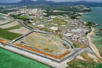 (資料写真)新基地建設へ向けた国の作業が進む名護市辺野古