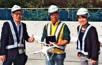 ドローン活用、空撮で沖縄の魅力発信 OTSがサービス本格化