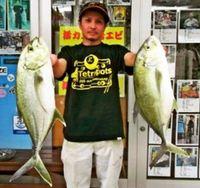 [有釣天]北中城・熱田漁港でオニヒラアジ連発
