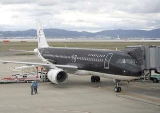 スターフライヤーのエアバスA320=2020年、関西空港