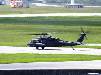 在韓米陸軍のUH60ヘリ