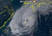 台風22号:うるまの沖縄県道36号通行止め 倒木が車線ふさぐ