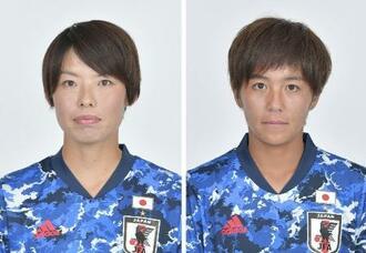 左から熊谷紗希、岩渕真奈