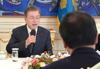 文大統領、個人請求権を明言 元徴用工判決で日韓議連に