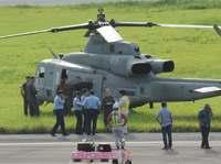 米軍ヘリ「計器に警告」 久米島空港に緊急着陸 2便遅れ94人影響