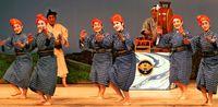 初代作舞踊劇 31年ぶりに/宮城流美能留会 「蓬莱島 沖縄」上演