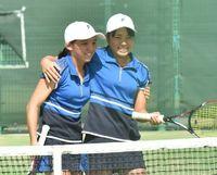リュー・下地が優勝 和歌山国体テニス少年女子 ダブルスで接戦制す