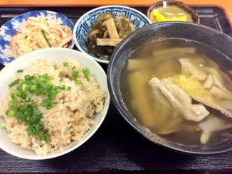 日替わりランチの中味汁700円(ジューシー)