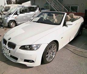 公売対象の「BMW335iカブリオレ」(画像の一部加工済)