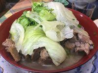 今日もがっつり!運転手メシ(289)名護市東江の「お食事処 オリエンタル」で骨汁を食べたの巻