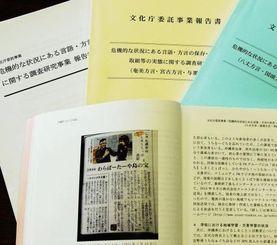 文化庁報告書の2015年最新版(下)には、「はいさい!じゅん選手のしまくとぅば日記」が紹介された