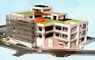 津波避難ビルの完成予想図
