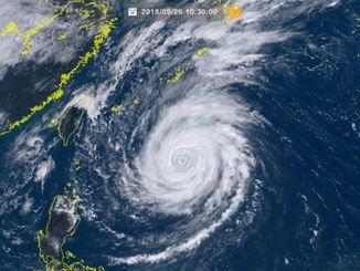 台風24号(26日10時30分、ひまわり8号リアルタイムWebから)