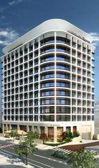 那覇市で着工する「JR九州ホテルブラッサム那覇」の完成イメージ