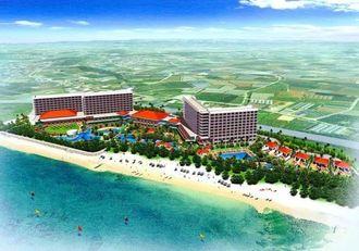 糸満市・名城ビーチでのホテル開発のイメージ図(国建提供)