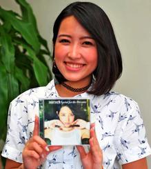 初アルバムをリリースしたMICHI=那覇市・沖縄タイムス社