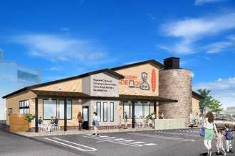 コメダが南風原町兼城に開店予定の「石窯パン工房ADEMOK」のイメージ図(同社提供)
