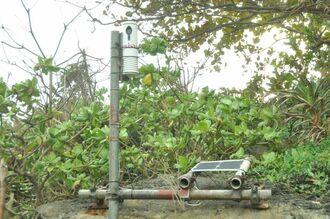 海岸に設置された定点観測カメラ