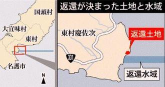 慶佐次通信所 返還が決まった土地と水域