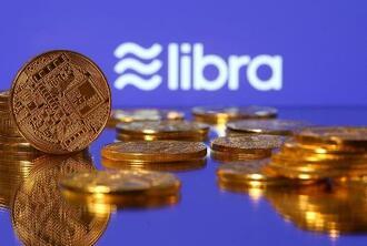 米フェイスブックが計画していた仮想通貨「リブラ」のロゴ(ロイター=共同)