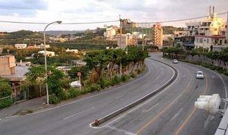 現在の那覇市首里赤田町(沖縄戦当時、実際にこの場所を見たという証言から撮影)