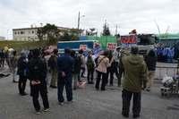 辺野古新基地:「美ら海を壊すな」 市民らゲート前・海上で抗議行動