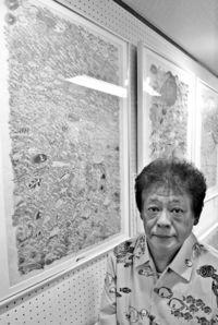[きょうナニある?]/話題/下条さん描く沖縄の海/都内で原画展27日まで