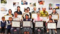 投稿写真「私の一点」入賞者を表彰 タイムスギャラリーで23日まで展示
