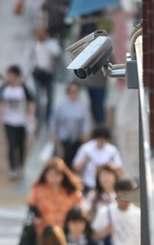 街中の防犯カメラ