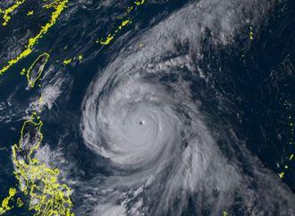 2日午後3時半の台風25号(ひまわり8号リアルタイムwebから)