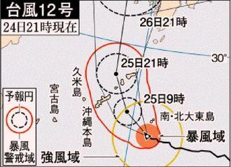 台風12号(24日21時現在)