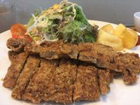 沖縄市の食楽屋おはなでトンカツ定食を食べたの巻 運転手メシ(277)