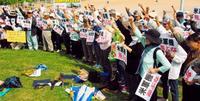 米軍機の飛行禁止訴え 沖縄・うるま市で250人集会