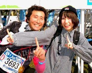 塩澤秀介さん(左)と娘の悠喜さん