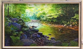 東光二さんの作品「シダの生ける杜・比地川」