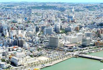 (資料写真)空から見た沖縄の街の風景