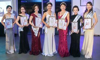 ミセス・オブ・ザ・イヤー2020沖縄大会受賞者ら