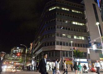 商業地で13年連続の最高価格となった、那覇市久茂地3丁目の日本生命那覇ビル付近