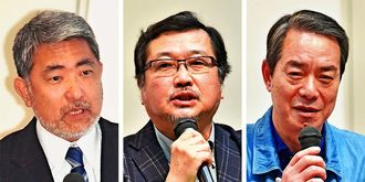 (左から)屋良朝博氏、半田滋氏、柳澤協二氏
