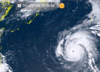 8日午後0時半の台風8号(NICTひまわり8号リアルタイムwebから)