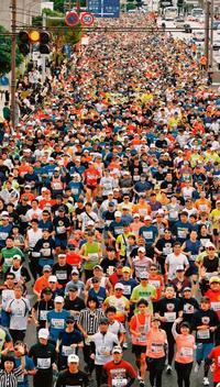2万4874人熱走 NAHAマラソン 完走率69.72%