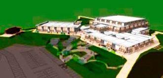 来年3月4日にオープンする沖縄空手会館の完成イメージ図(県空手振興課のホームページから)