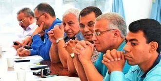 農家と料理人に朝市の取り組みを学んだエジプト政府職員=名護市・山田集落センター