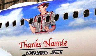 安室奈美恵さんを機体に描いた特別デザイン機「AMURO JET」