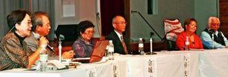 よりよい社会づくりに向け、それぞれの立場から提言したパネリストら=29日、名護市・国立療養所沖縄愛楽園