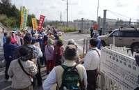 「美ら海、壊さないで」 市民ら100人、辺野古新基地反対で座り込み